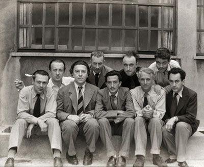 Surrealists Tristan Tzara, Paul Éluard, André Breton, Hans Arp, Salvador Dalí, Yves Tanguy, Max Ernst, René Crevel and Man Ray, Paris 1933