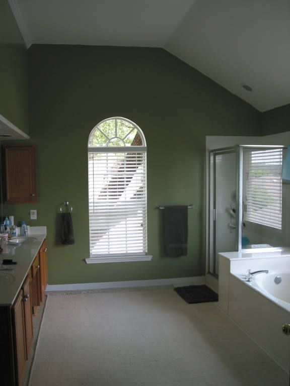 Olive Green Bathroom Walls Master Bathroom Pinterest