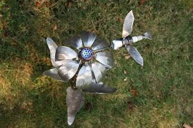 Bad Hammer Metalworks: New Flower/Hummingbird for Beth
