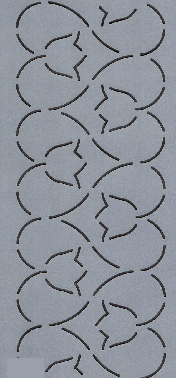 """Tulip in a Heart Border 4"""" - The Stencil Company"""