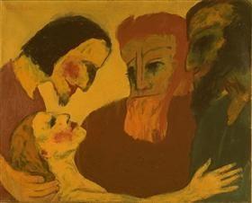 Jesus Kristus og synderen - Emil Nolde 1926