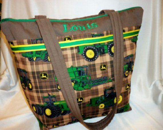 John Deere Diaper Tractor : John deere tractor diaper bag green brown tote western