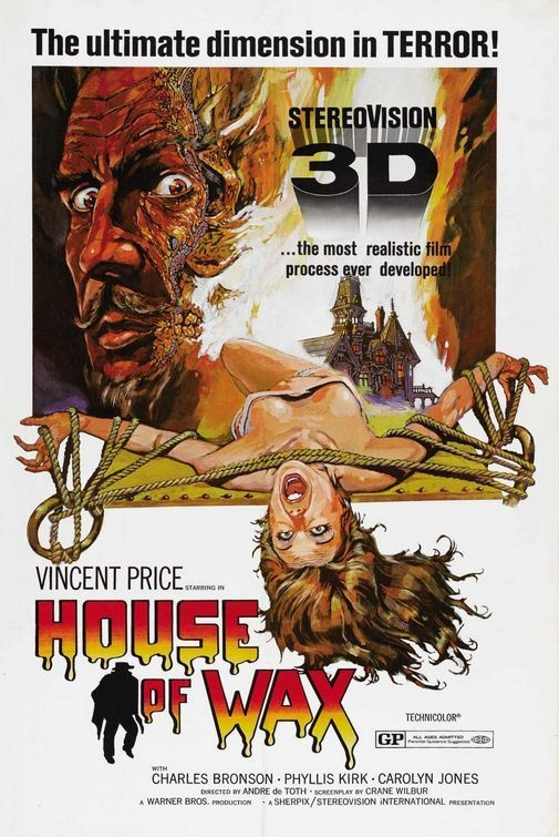 house of wax (1953).  IMHO the best of the 3 D films.