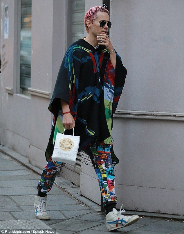 Pink hair, don't care! Jared Leto put on his most colourful display to date as he took a break from Paris Fashion Week to enjoy a shopping spree in the French capital on Friday