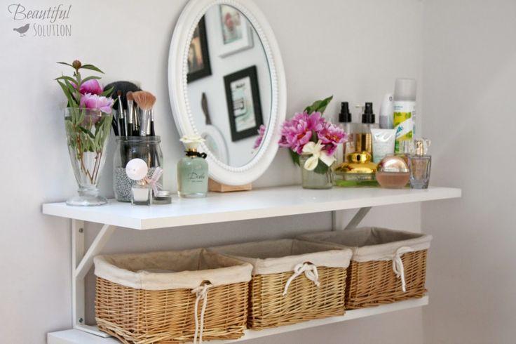 Żyj pięknie: Moja DIY toaletka i inspiracje, czyli miejsce tylko dla mnie