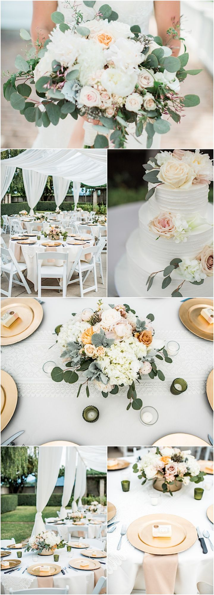 Featured Photographer: Lahna Marie Photography; outdoor wedding reception idea