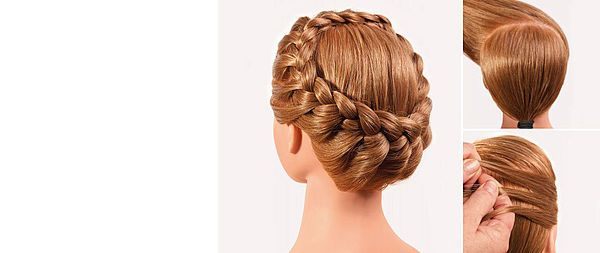 Adorable festive with classic braided hairstyle … Made by Annreose Cutivel.