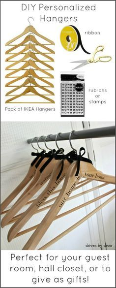 DIY Personalized Hangers - great idea for inexpensive, meaningful holiday gifts!