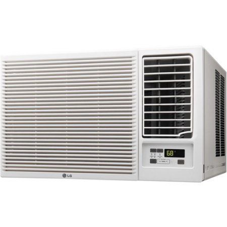 LG 23,000 BTU 230V Window-Mounted Air Conditioner with 11,600 BTU Supplemental Heat Function, Multicolor