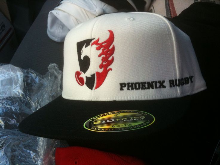 Embroidered hats for rugby team