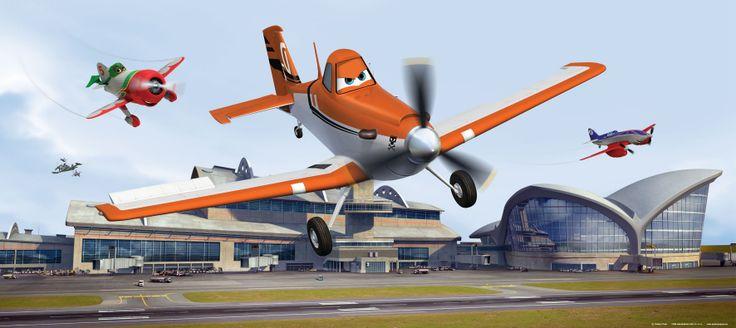 Disney Planes Dusty Afmeting: 202 cm breed x 90 cm hoog Materiaal: speciaal papier Lijm: wordt meegeleverd Delen: 1 stuks Prijs 29,95