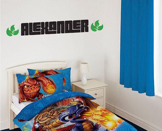 Personalized Name SKYLANDERS Wall Decal Kids Room By IceCreamVinyl, $24.00