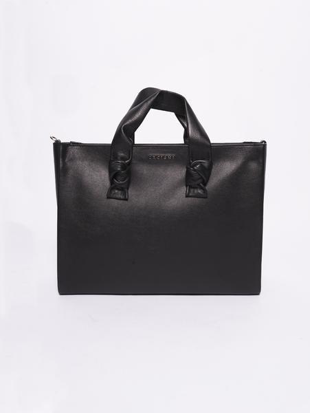 b4a65549df B02045 Borsa in pelle con nodi Nero nel 2019 | Bags | Bags e Fashion