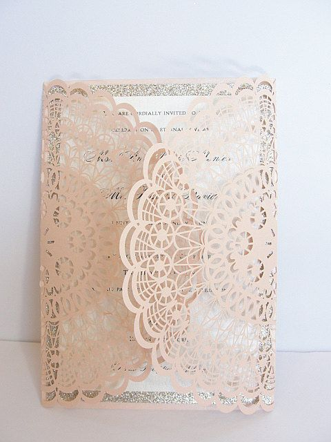 Laser Cut Wedding Invitation Doily Laser Cut by LavenderPaperie1