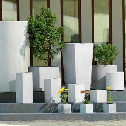 Maceteros cubo y rectangular