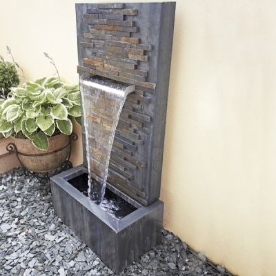 Slate Falls LED Lit Water Feature