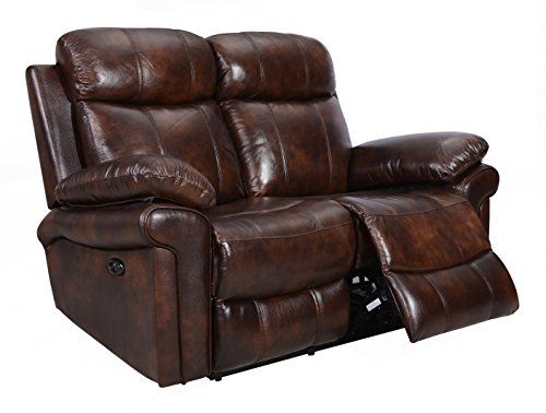 Oliver Pierce Op0035 Hudson Reclining Leather Loveseat Brown