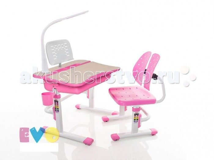 Mealux Комплект мебели столик и стульчик EVO-03 с лампой  Mealux Комплект мебели столик и стульчик EVO-03 с лампой  Пеналы для удобной организации рабочего пространства ребенка.  Подставка которая позволяет сделать столешницу ровной в случае необходимости. Крючок - для портфеля, учебники всегда рядом.  Изменяемая глубина спинки - что позволит более точно адаптировать стульчик под ребенка.Двойная форма спинки удобно облегает для лучшей поддержки ребенка.  Размеры: Ширина, см: 70,5 Глубина…