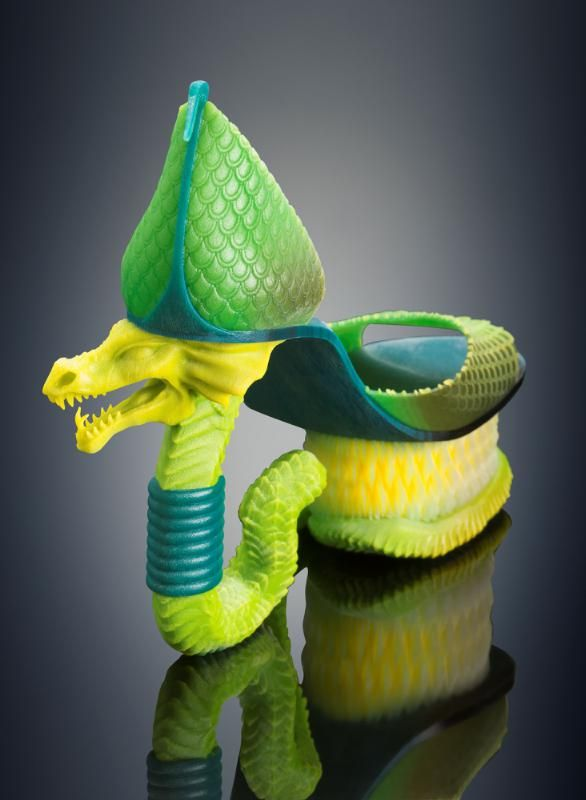 Unique 3D Printed Color Multi-Material Fashion Collection Produced Using Objet500 Connex3 3D Printer
