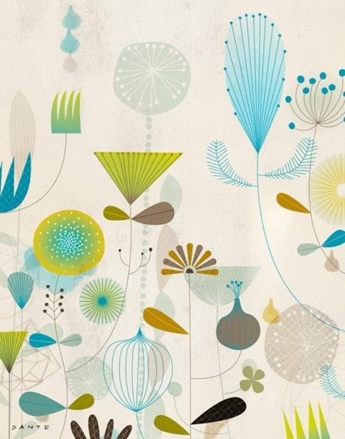 via (via Funky floral #3 | Dante Terzigni Illustration)
