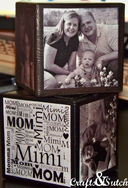 DIY Photo Cubes Craft ~ great Christmas gift for grandparents! (I have a pin like this, but what I love is the subway art on the other side - want to remember that!)