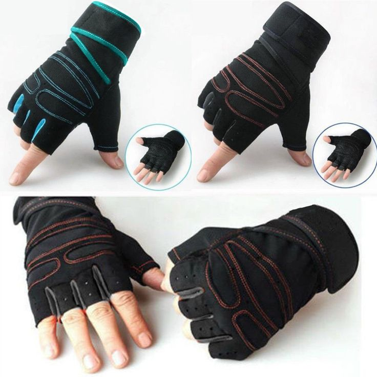 Fitness Training Weight lifting Gym Gloves Wrist Workout Exercise Sports Fast
