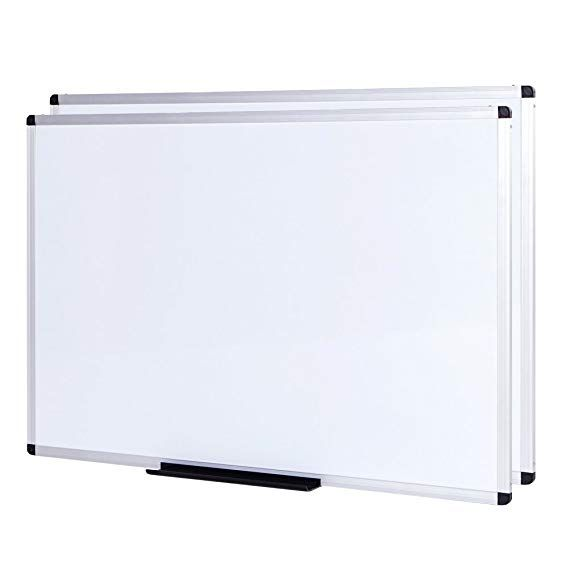 Viz Pro Dry Erase Board Whiteboard Non Magnetic 2 Pack 36 X 24 Inches Wall Mounted Board For School Office And Home White Board Dry Erase Board Dry Erase