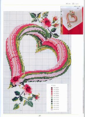 Point de croix : ❤️*❤️ .cross stitch hearts