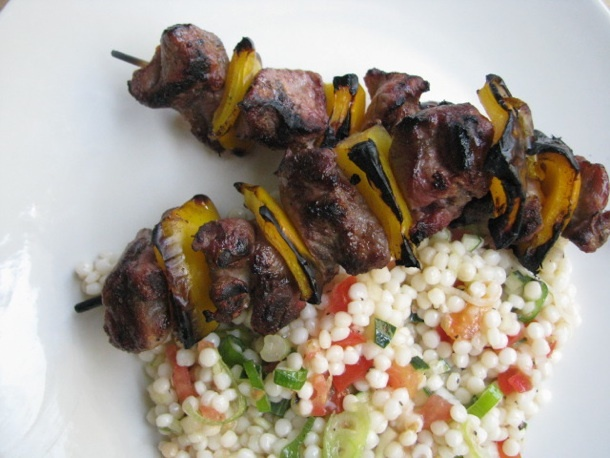 Sunday Supper: Lamb Kebabs with Israeli Couscous | Recipe