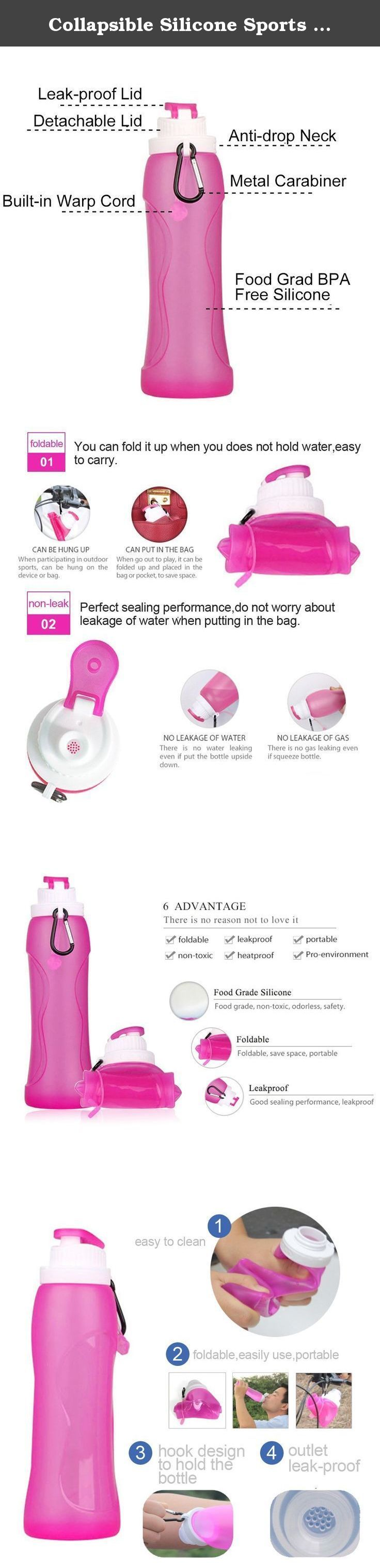 Collapsible Silicone Sports Water Bottles, Mami & Babi - BPA Free, FDA Approved, Eco Friendly, Leak Proof, Food Grade Safe - for Hiking, Camping, Cycling, Amusement Parks (Pink, 1 pack 500 ml / 17 oz). About Mami & Babi: Welcome to buy our products, this is Mami & Babi which always focus on the series of the Food Grade Silicone including Silicone Teething Necklaces, Silicone Teething Bracelets, Silicone Travel Bottles, Silicone Foldable Bottles. Each of our product is manufactured by a...