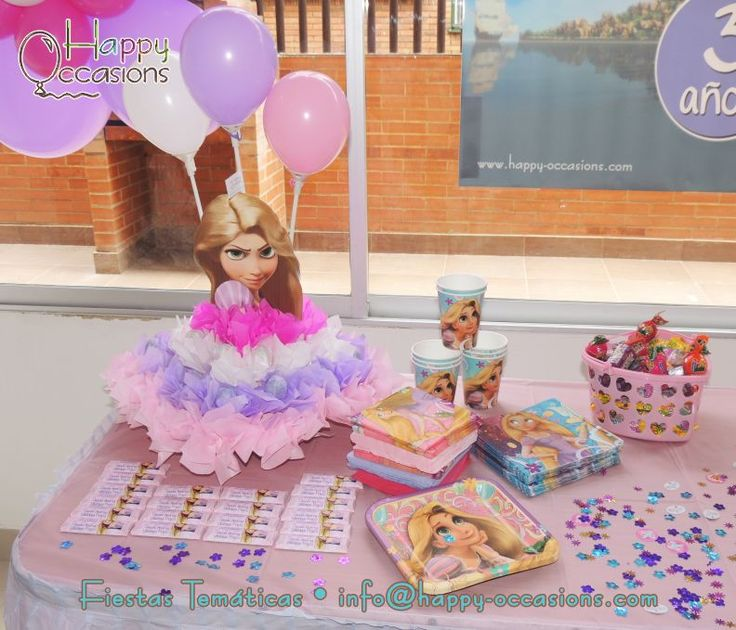 Decoracion Rapunzel Fiesta ~ Decoraci?n Fiesta Rapunzel  Fiestas  Pinterest