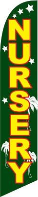 Nursery Swooper Feather Flag Complete Kit With 15' Pole And Ground Spike