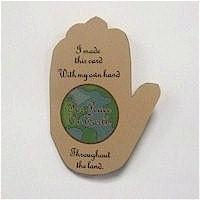 Free Kids Crafts - Peace on Earth Handprint