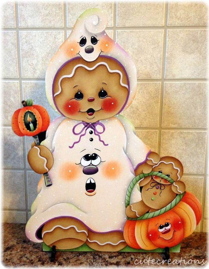 HP GINGERBREAD Halloween SHELF SITTER