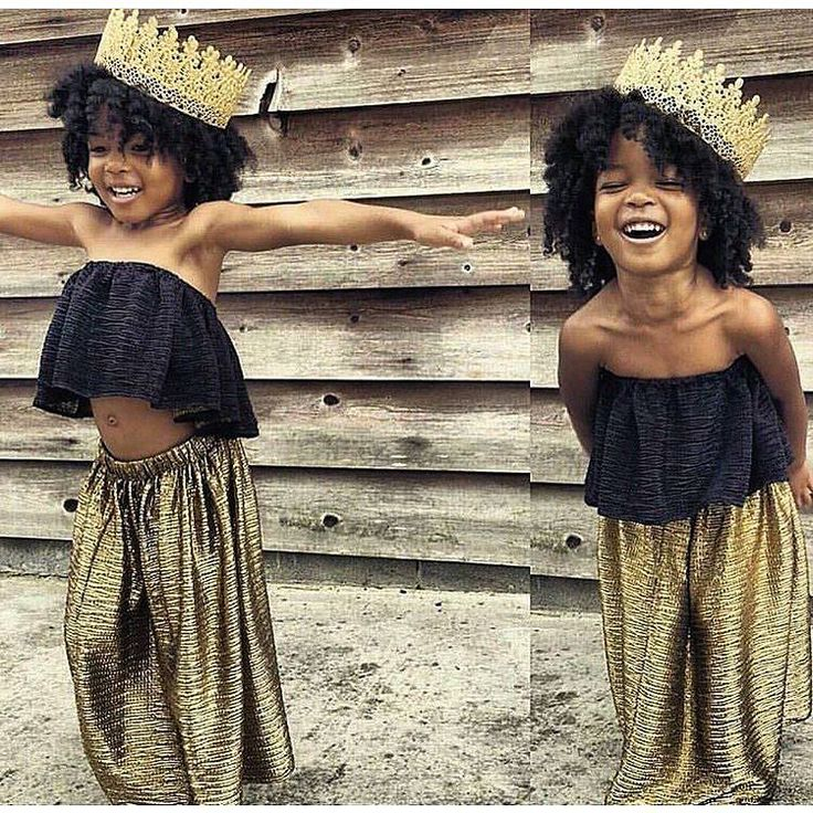 good morning! we love how joyful this little princess looks with her twist out!