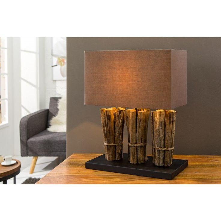 Tafellamp natural life bruin - 36971
