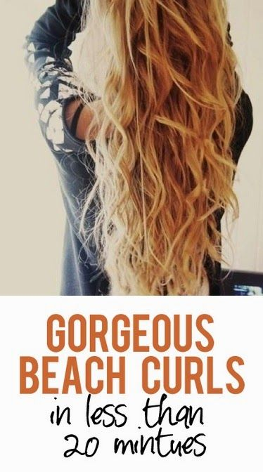How to: Get Perfect Beach Curls #hair_curling