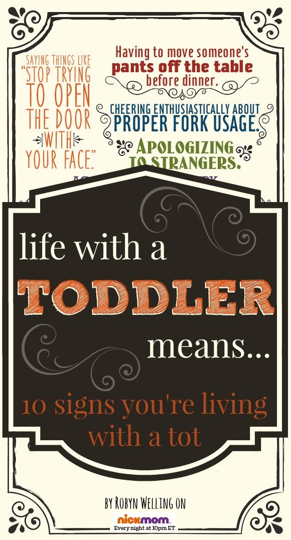 Life With a Toddler Means... A list of 10 funny truths behind parenting a toddler by @RobynHTV on @NickMom
