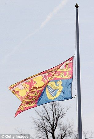 flag at half staff or mast