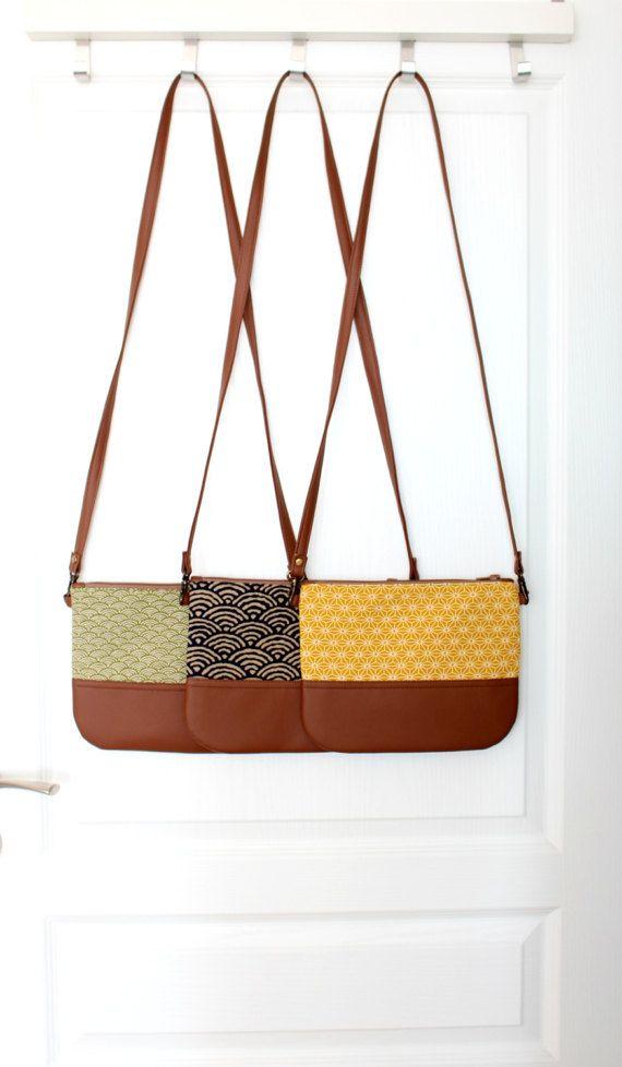 Crossbody leather bag Clutch Purse Every day purse par HelloVioleta