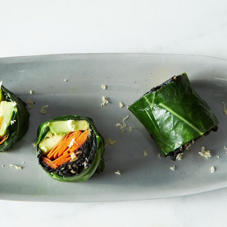 Make healthy lunch wraps out of collard greens filled with almost anything.