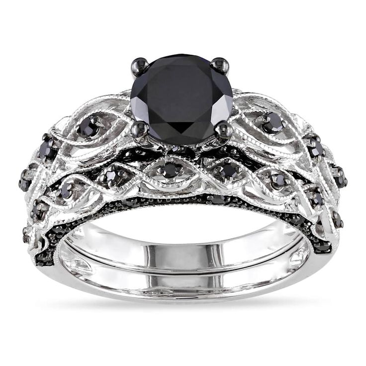 Best Black Diamond Rings Ideas On Pinterest Black Onyx Ring