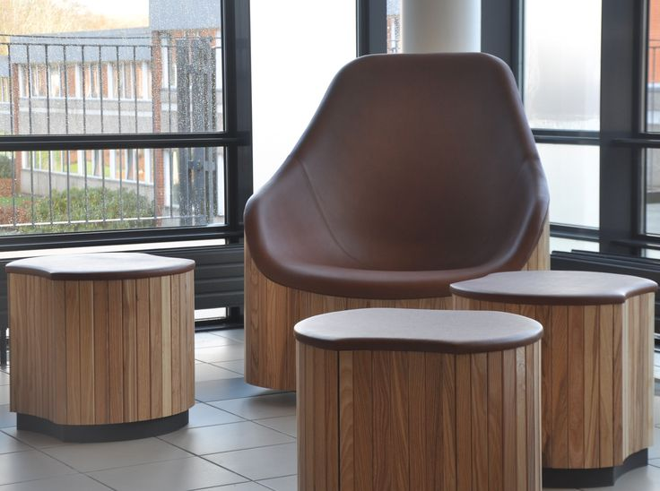 The last part of the project for Vingstedcentret in Vejle. #Swivelloungechair #wood #furniture #hacking #HAY #handmade http://www.kjeldtoft.com/