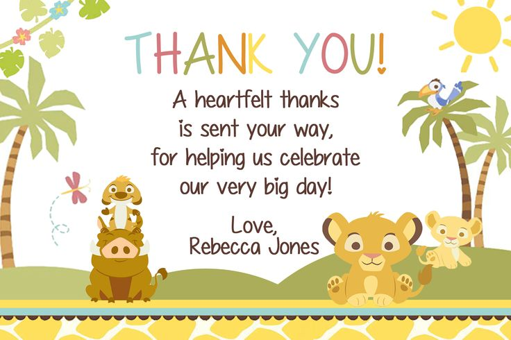 123 best simba lion king baby shower invitation and supplies images simba lion king baby shower thank you card 450 available at partyexpressinvitations filmwisefo