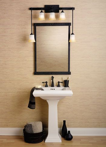 How High Do You Hang Vanity Lights : 17 Best images about Bathroom lighting ideas on Pinterest Bathroom vanity lighting, Wall ...