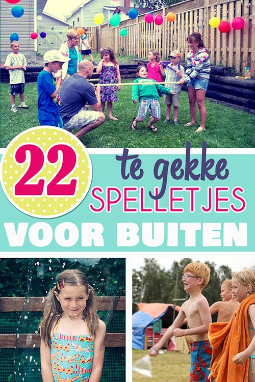 22 te gekke spelletjes voor buiten voor je kinderfeestje