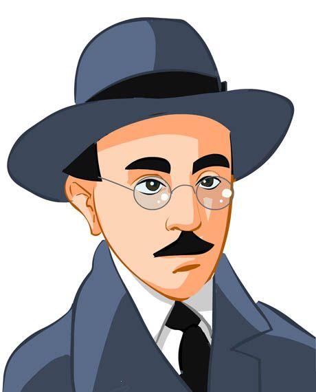 Caricature of Fernando Pessoa.