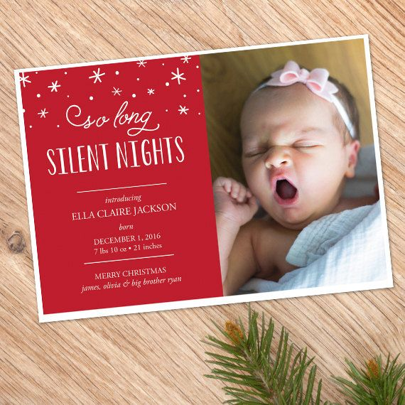 Custom Photo Christmas Card | DIY Printable | Christmas Birth Announcement | Pregnancy Announcement