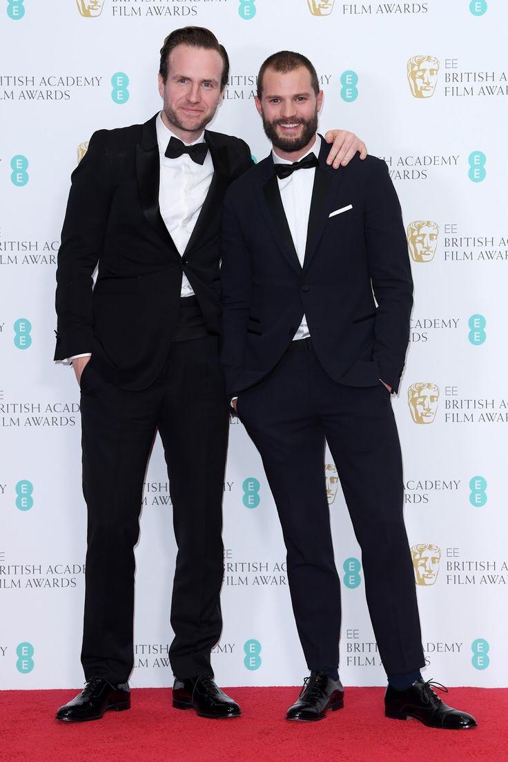 Jamie with Rafe Spall, BAFTAs 2017