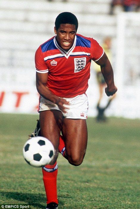 John Barnes playing for England's Under 21 team in 1982